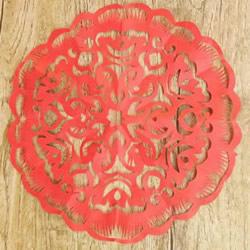中国传统新年团花的剪纸方法步骤图解