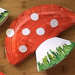 幼儿园简单手工制作纸盘蘑菇的做法教程