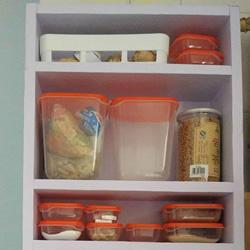 硬纸板手工制作厨房置物柜的做法教程