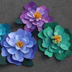 用纸手工制作立体牡丹花的做法教程