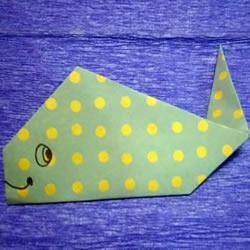 一步一步折纸鲸鱼的简单图解教程