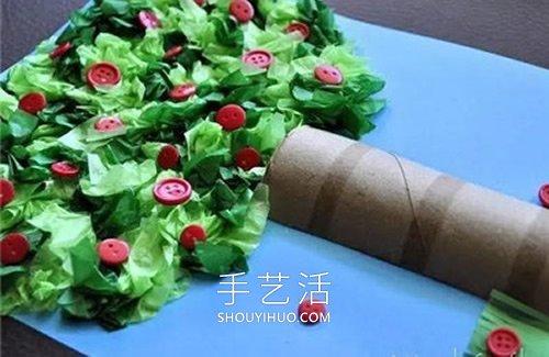 春天大树手工制作教程 简单又可爱! -  www.shouyihuo.com