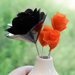 VHS磁带手工制作漂亮玫瑰花的做法图解教程