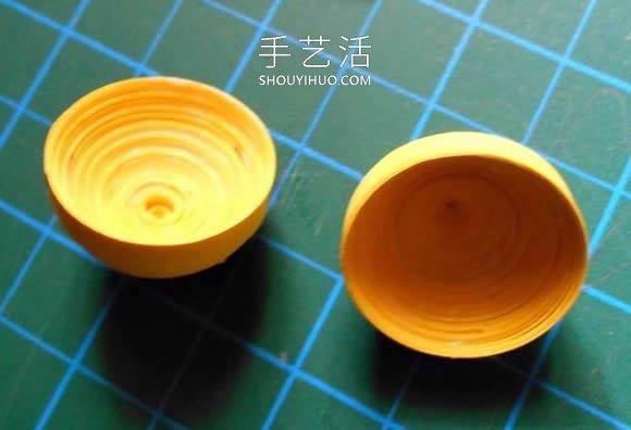 衍纸柠檬手工制作图解教程 -  www.shouyihuo.com