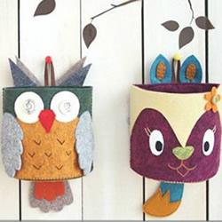 自制儿童节礼物!布艺手工制作壁挂动物笔筒