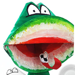 纸盘手工制作夏日青蛙的做法图解