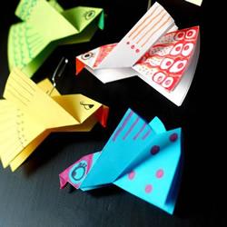 适合学龄前孩子!最简单折纸小鸟图解教程