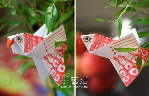 适合学龄前孩子!最简单折纸小鸟图解教程 -  www.shouyihuo.com