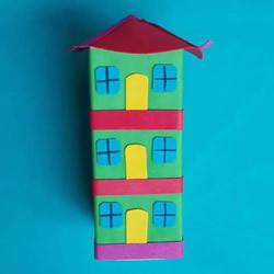 不要的包装盒废物利用 手工制作小房子的方法