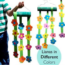 幼儿手工制作小花挂饰的做法教程