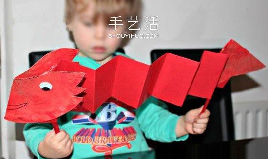 纸盘手工制作端午节舞龙的做法图解教程 -  www.shouyihuo.com