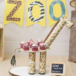 自制长颈鹿蛋糕架的方法 漂亮又环保!