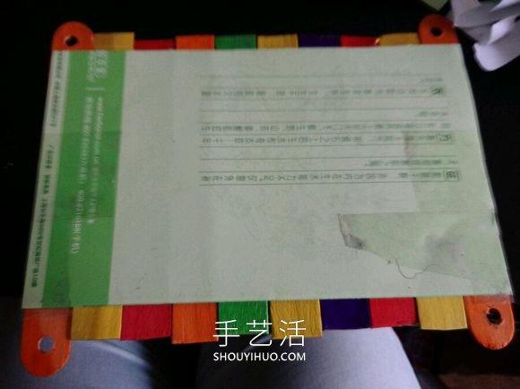 雪糕棍手工制作秋千吊椅的方法图解教程 -  www.shouyihuo.com