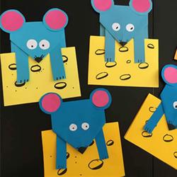 简单自制教师节卡通老鼠贺卡的方法教程