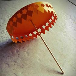 卡纸简单手工制作华丽纸伞的做法教程