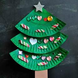 幼儿园手工制作纸盘圣诞树的做法教程