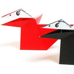 折纸嘴巴会动的乌鸦的折法视频教程