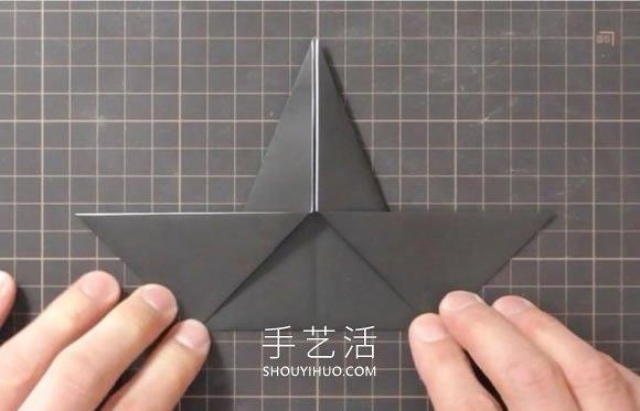 折纸嘴巴会动的乌鸦的折法视频教程 -  www.shouyihuo.com