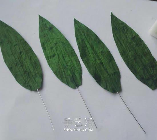 自制清新漂亮纸藤百合的方法图解教程 -  www.shouyihuo.com