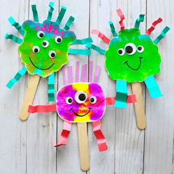 幼儿园简单手工制作万圣节可爱怪物的做法