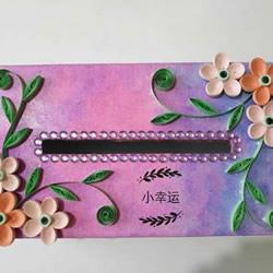 空纸盒废物利用 自制漂亮纸巾盒的方法教程