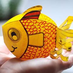 幼儿手工制作卡纸金鱼的做法教程