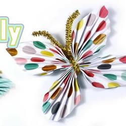 简单又漂亮纸蝴蝶的折法图解教程