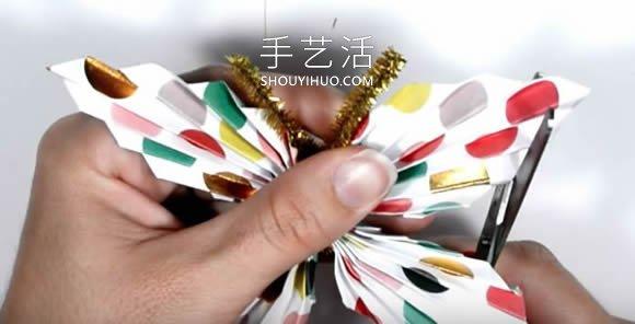 简单又漂亮纸蝴蝶的折法图解教程 -  www.shouyihuo.com