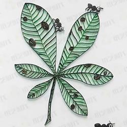 树叶和蚂蚁!简单又有趣的衍纸画DIY教程