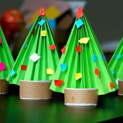 幼儿园手工制作迷你圣诞树的做法教程
