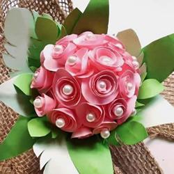 简单自制纸玫瑰花球的方法图解教程