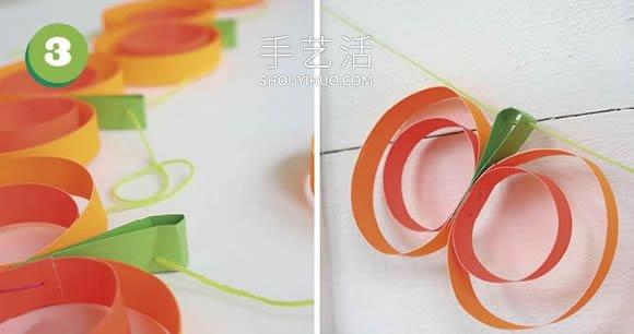 简单卡纸手工制作万圣节南瓜装饰的教程 -  www.shouyihuo.com