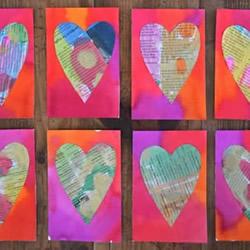 旧报纸再利用 幼儿园自制教师节爱心卡片教程
