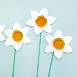 幼儿园手工制作水仙花的做法教程