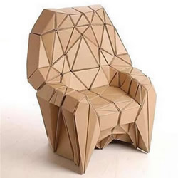 硬纸板废物利用手工制作椅子的做法教程