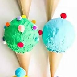 幼儿手工制作熟石膏冰激凌的做法教程