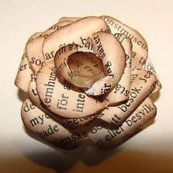 自制复古风报纸玫瑰花的方法图解教程