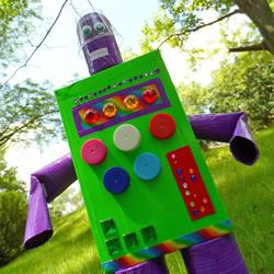 周末�H嚎叫�打�嗔怂�接下�硐胍�做子手工:用�U��材那���F球料做大�C器人的教程