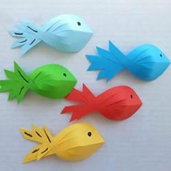 幼儿园手工制作立体卡纸小鱼的做法教程