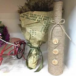 自制麻绳花瓶的方法 简单的红酒瓶再利用!