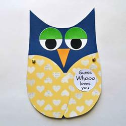 儿童手工制作父亲节猫头鹰卡片的做法教程