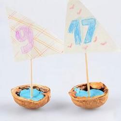 幼儿自制核桃壳帆船的方法图解教程