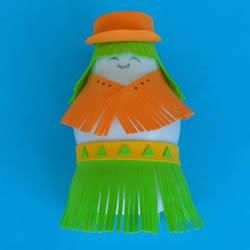 酸奶瓶手工制作『女郎人偶的做法教程