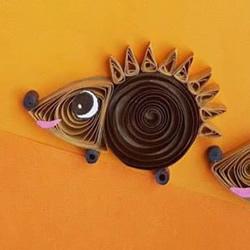 衍�手工制作秋天刺猬的做法教程
