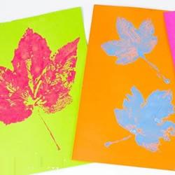 幼儿园手工制作秋天树叶印画的做法教程