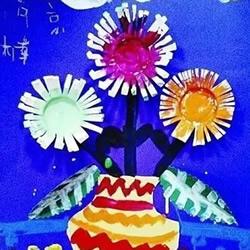 幼儿园手工制作重阳节菊花花瓶的做法教程