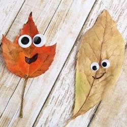幼儿园手工制作秋天树叶娃娃的做法教程