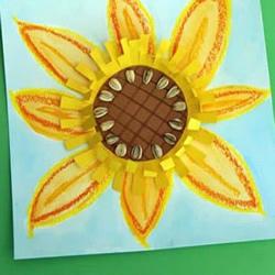 幼儿园手工制作向日葵画的做法教程