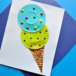 幼儿园手工制作蛋糕纸冰激凌的做法教程