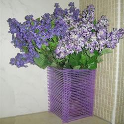 自制漂亮吸管花瓶的方法图解教程
